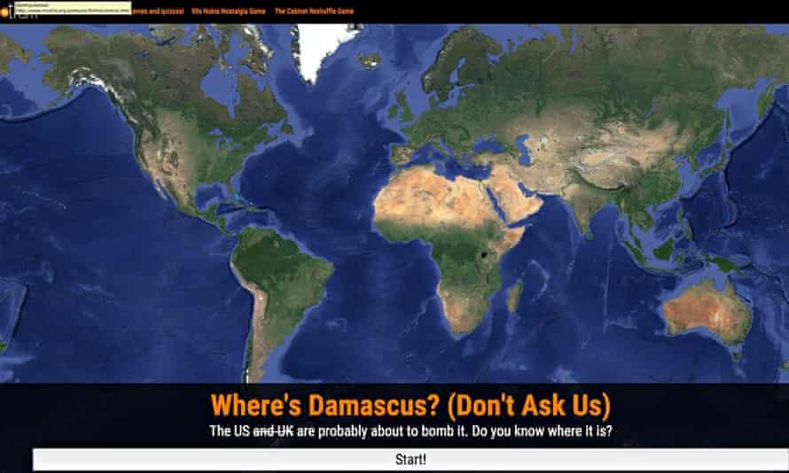 Where is Damascus?, produced by Trinity Mirror's experimental social news team UsVsTh3m.