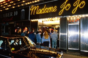 Outside Madame Jojo's in the 90s.