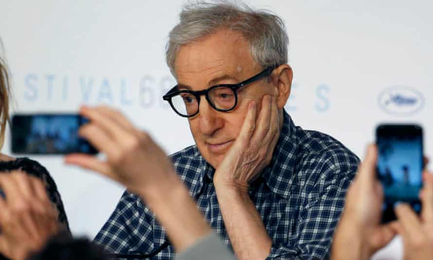 Not a tech fan … Woody Allen at the Irrational Man press conference.