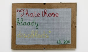 i hate those bloody disableds patch