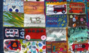 the justice quilt is celebration of Connor's life