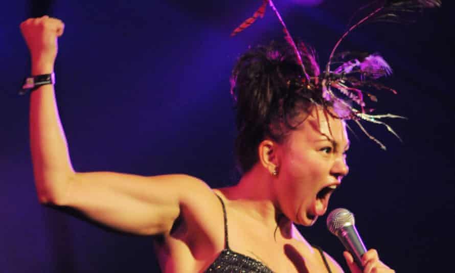 Tanya Tagaq on stage