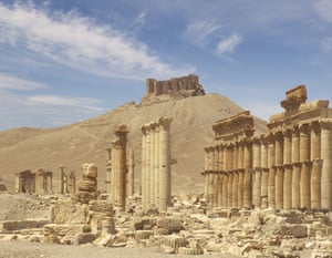 Columns in the inner court of the Temple of Ba'al, Palmyra
