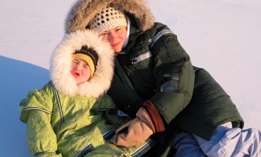 Tagaq, with her daughter