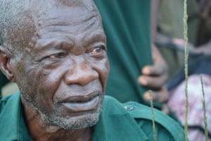 Retired ranger, John Okwilo, who served for 18 years.