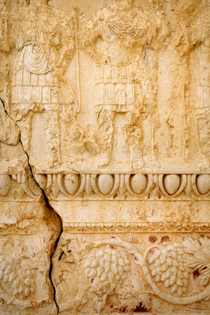Stone carvings on the Temple of Ba'al