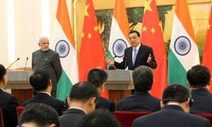 India's prime minister Narendra Modi and China's premier Li Keqiang