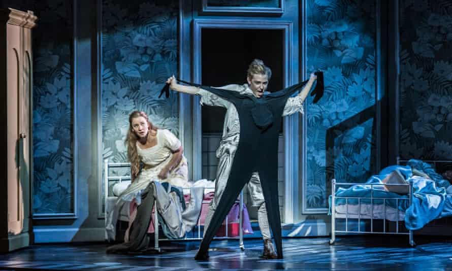 Marie Arnet as Wendy and Iestyn Morris as Peter in Peter Pan at Welsh National Opera.