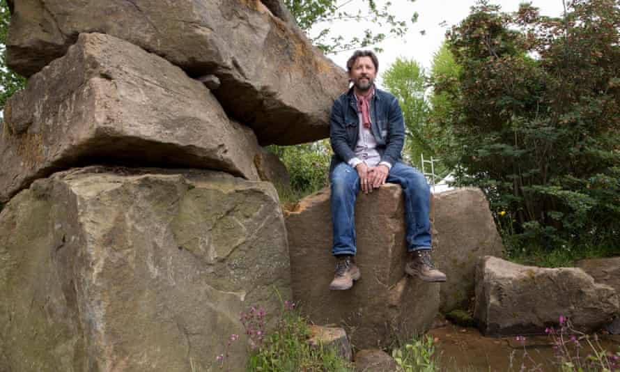 Dan Pearson in the Laurent-Perrier Chatsworth garden at the Chelsea flower show.