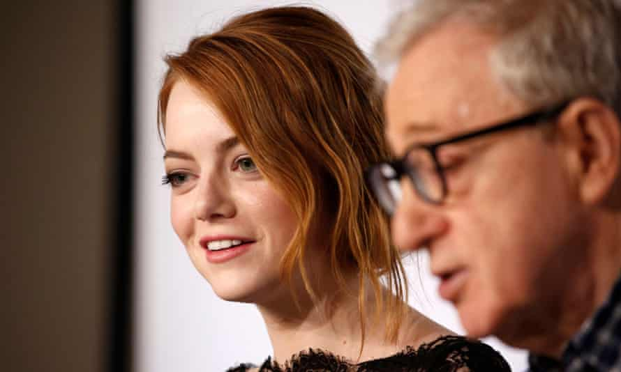 Emma Stone and Woody Allen.