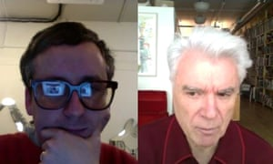 Alexis Taylor and David Byrne