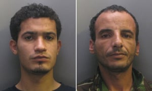 Ibrahim Abugtila, left, and Moktar Ali Saad Mahmoud, who have been convicted of raping a man in Cambridge.