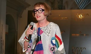 Grayson Perry at the London craft week earlier this month.