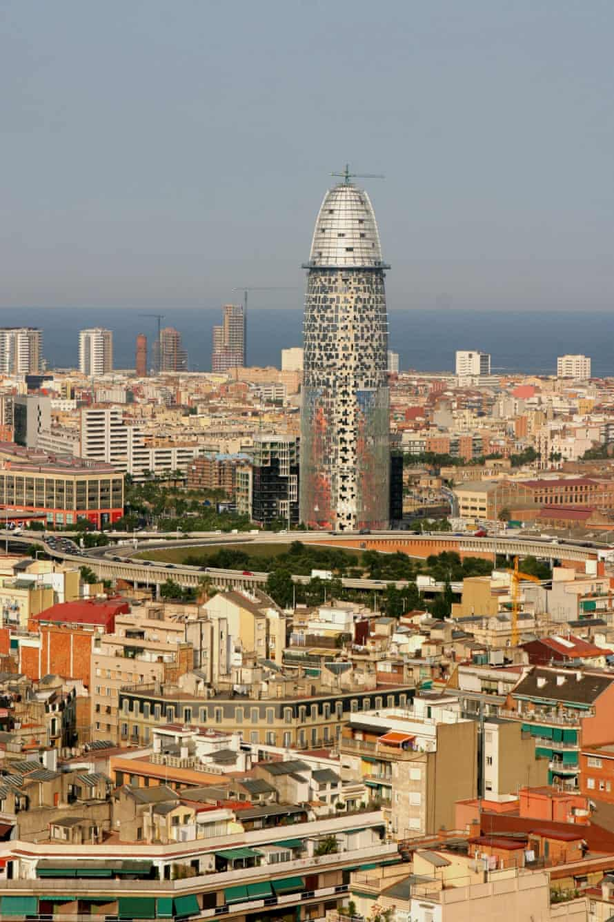 Bascelona's Torre Agbar, nicknamed 'the suppository'.