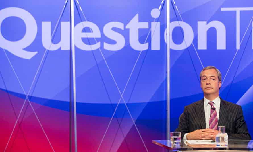 Farage, Question Time