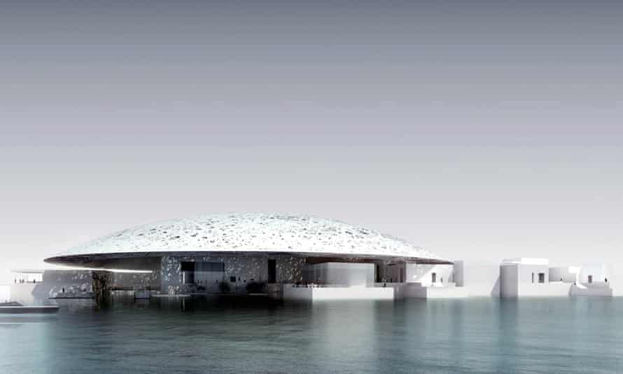 The future branch of the Louvre museum to be built in Abu Dhabi by Nouvel.