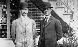American aviation pioneers Wilbur and Orville Wright