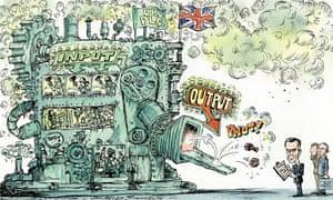 Cartoon by David Simonds about Britain's productivity problem