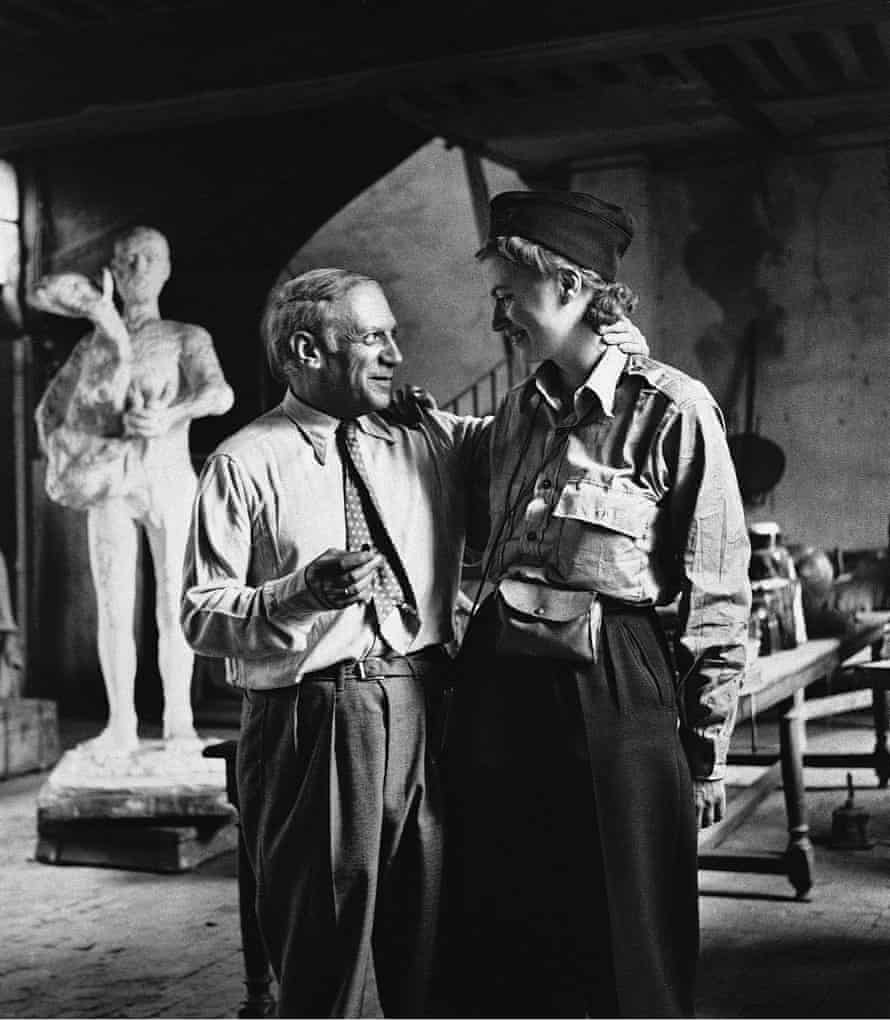 Lee Miller and Picasso after the liberation of Paris, by Lee Miller, Paris, 1944