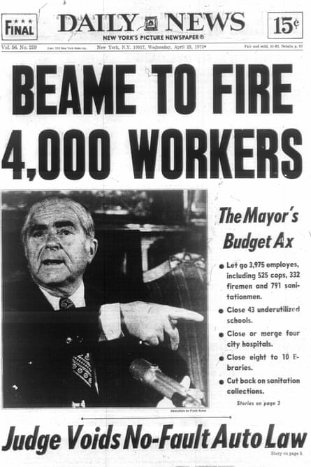 New York Daily News front page, 23 April 1975.