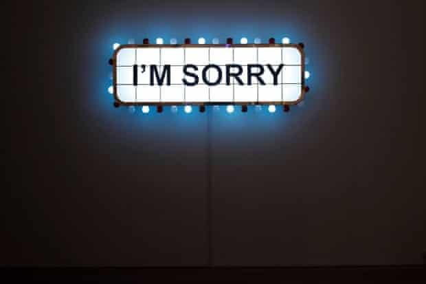'I'm Sorry' (2008) by Iraqi-born artist Abdel Abidin