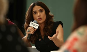 Salma Hayek at the panel discussion.