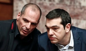 Before he admits he has lost the game of chicken, Alexis Tsipras, the Greek prime minister, right, should think hard about euro analysis of his finance minister, Yanis Varoufakis.