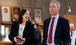 Jim Murphy, pictured with Kezia Dugdale, resigned on Saturday.