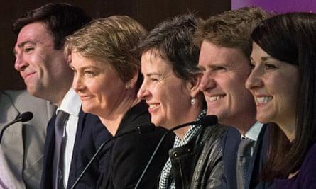 Labour MPs Andy Burnham, Yvette Cooper, Mary Creagh, Tristram Hunt, Liz Kendall