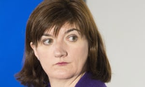 Education secretary Nicky Morgan. 'Children's reading is not improved by testing. She's talking nonsense and she knows it.