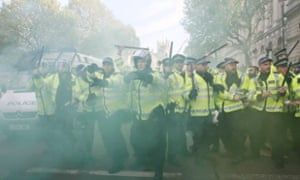 "Steve White told the Guardian that more cuts would be devastating: ""You get a style of policing where the first options are teargas, rubber bullets and water cannon, which are the last options in the UK."""