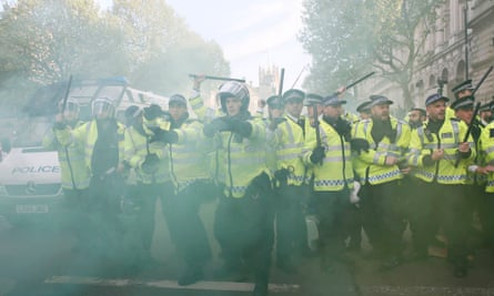 """Steve White told the Guardian that more cuts would be devastating: """"You get a style of policing where the first options are teargas, rubber bullets and water cannon, which are the last options in the UK."""""""