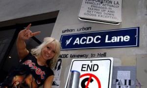 An AC/DC fan at ACDC Lane, Melbourne