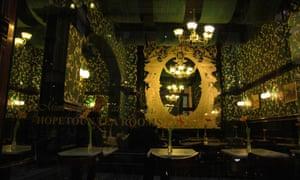 The interior of the Hopetoun Tea Rooms.