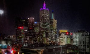 Melbourne from Cookie rooftop bar.