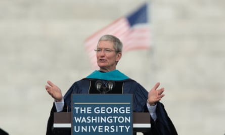 Tim Cook commencement George Washington Apple