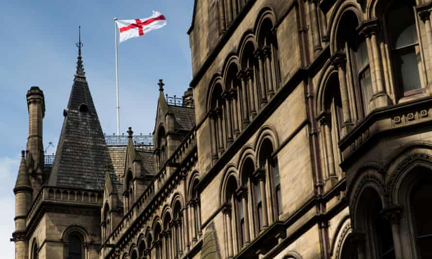 Union flag Manchester town hall