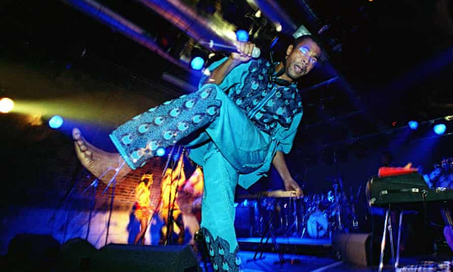 Femi Kuti, playing at the Arches, a venue which is under threat since Glasgow city council revoked i