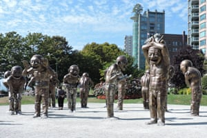 A-maze-ing Laughter by Yue Minjun, Vancouver