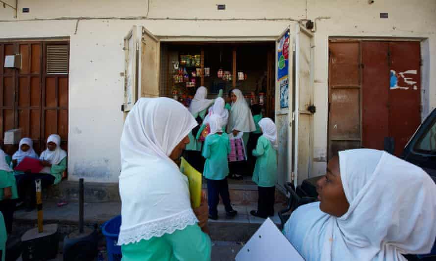 Girls at school Tanzania, Zanzibar island, Unguja, Stone Town, 22 November 2010