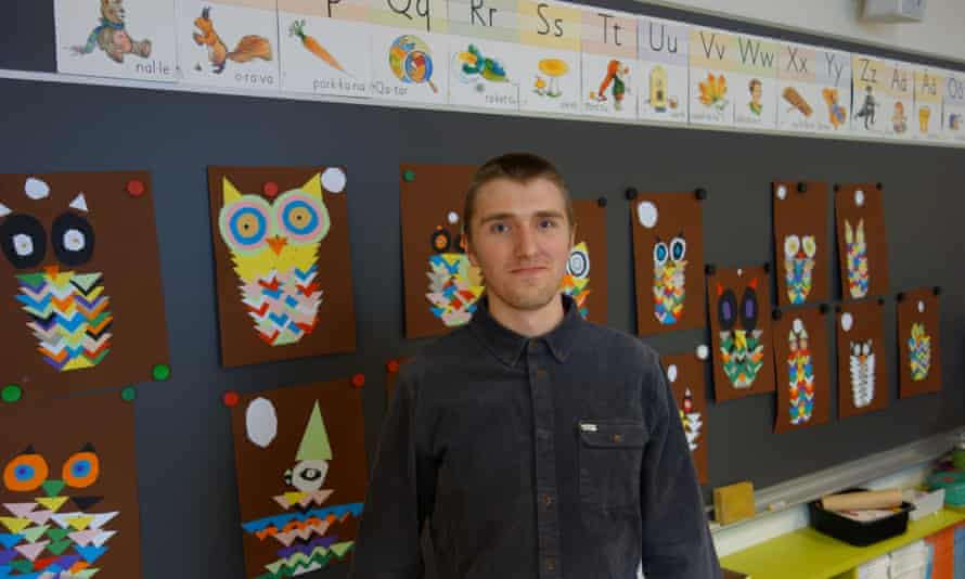 Ville Sallinen, at Viikki teacher training school. The school gives him the opportunity to try out the theory he has learned at the affiliated university.