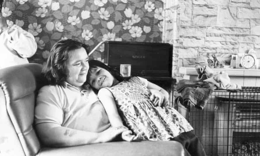 Mother and daughter at home in Toxteth, Liverpool.
