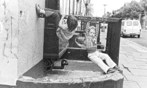Children playing in Berkley Street, Toxteth, Liverpool.