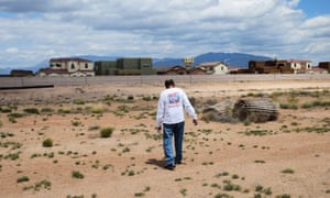 Mesa del Sol resident Dean Savas tours the desolate land he says is supposed to be a park.