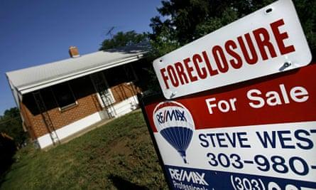 Foreclosure sign in Denver Colorado
