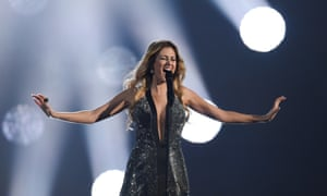 Maria Elena Kyriakou of Greece performs during a rehearsal of the first Semi Final