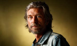 Karl Ove Knausgaard seen before speaking at the Edinburgh International Book Festival, Edinburgh, Scotland.