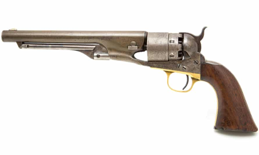 Army revolver from the American civil war ... as guns have evolved, so too have medical responses to the injuries they cause. Photograph: Bob Pool/Getty Images