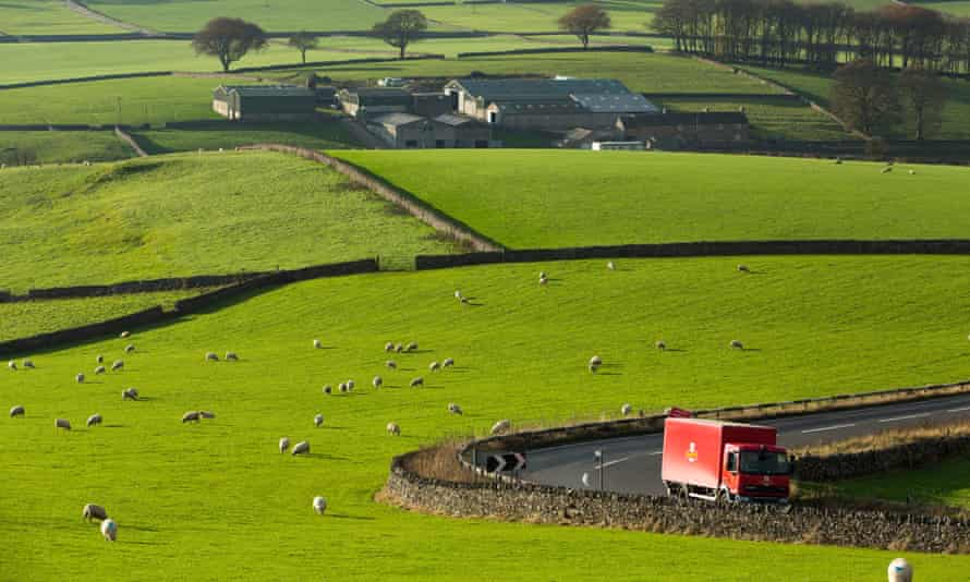 Royal Mail lorry in the Peak District