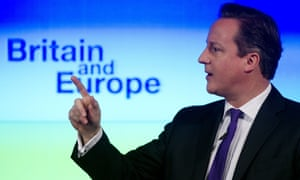 David Cameron speaking on Britain's future in Europe in 2013. The prime minister is determined to hold the referendum by the end of 2017.